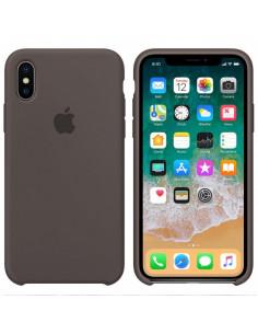 Чехол Silicone case (силикон кейс) iPhone X/XS Brown