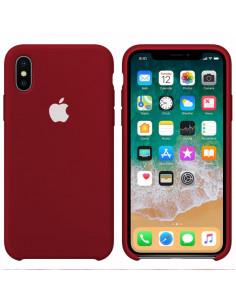 Чехол Silicone case (силикон кейс) iPhone X/XS Camelia White