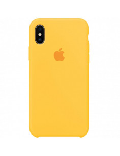 Чехол Silicone case iPhone X/XS Canary Yellow
