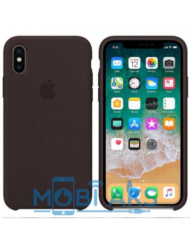 Чехол Silicone case (силикон кейс) iPhone X/XS Cocoa