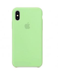 Чехол Silicone case (силикон кейс) iPhone X/XS Green