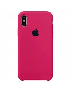 Чехол Silicone case (силикон кейс) iPhone X/XS Hot Pink