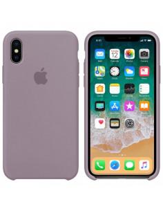 Чехол Silicone case (силикон кейс) iPhone X/XS Lavander