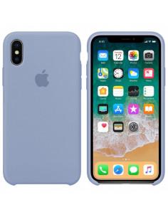 Чехол Silicone case (силикон кейс) iPhone X/XS Light Blue