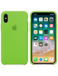 Чехол Silicone case (силикон кейс) iPhone X/XS Lime Green