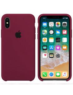 Чехол Silicone case (силикон кейс) iPhone X/XS Marsala