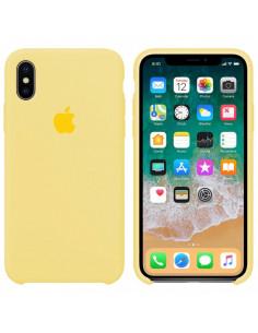 Чехол Silicone case (силикон кейс) iPhone X/XS Mellow Yellow