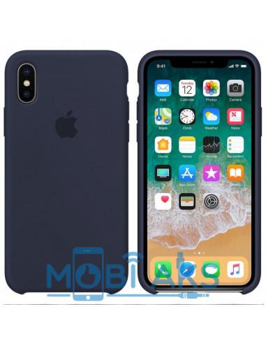Чехол Silicone case (силикон кейс) iPhone X/XS Midnight Blue