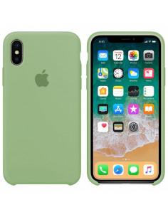 Чехол Silicone case (силикон кейс) iPhone X/XS Mint Gam