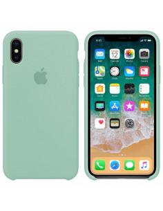 Чехол Silicone case (силикон кейс) iPhone X/XS Mint