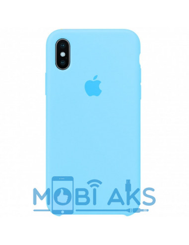 Чехол Silicone case (силикон кейс) iPhone X/XS Royal Blue