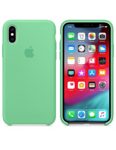 Чехол Silicone case (силикон кейс) iPhone X/XS Spearmint
