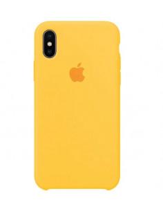 Чехол Silicone case (силикон кейс) iPhone X/XS Yellow