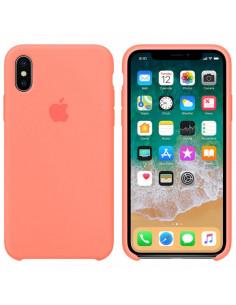 Чехол Silicone case (силикон кейс) iPhone X/XS Peach