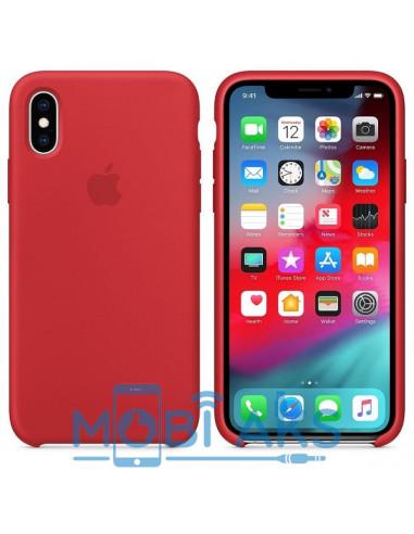 Чехол Silicone case (силикон кейс) iPhone X/XS Red