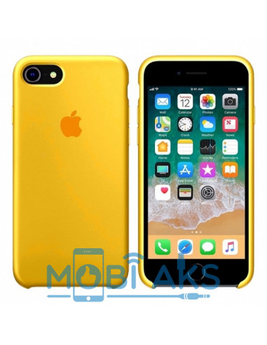 Чехол Silicone case для iPhone 7 / 8 Сanary Yellow