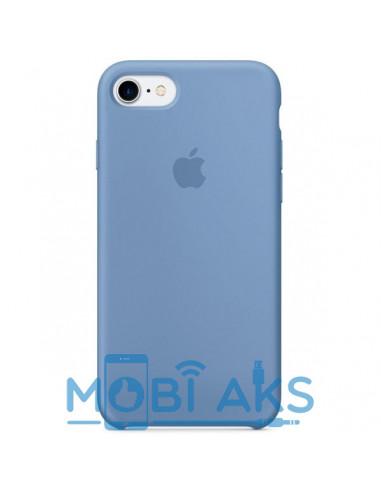 Чехол Silicone case (силикон кейс) для iPhone 7 / 8 Azure