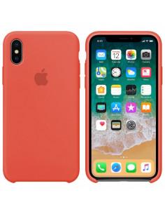 Чехол Silicone case (силикон кейс) iPhone X/XS New Apricot