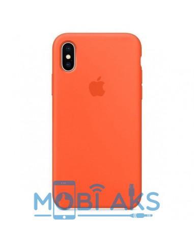 Чехол Silicone case (силикон кейс) iPhone X/XS Orange