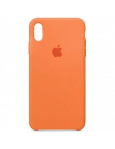 Чехол Silicone case (силикон кейс) iPhone X/XS Papaya