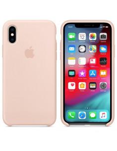 Чехол Silicone case (силикон кейс) iPhone X/XS Pink Sand