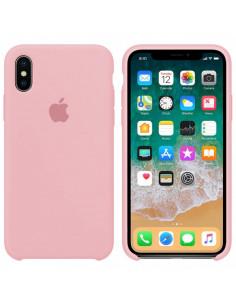 Чехол Silicone case (силикон кейс) iPhone X/XS Pink