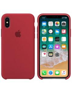 Чехол Silicone case (силикон кейс) iPhone X/XS Rose Red