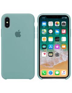 Чехол Silicone case (силикон кейс) iPhone X/XS Sea Blue