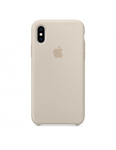 Чехол Silicone case (силикон кейс) iPhone X/XS Stone