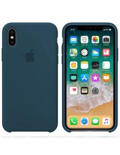 Чехол Silicone case (силикон кейс) iPhone X/XS Mist Blue