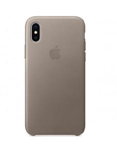 Чехол Silicone case (силикон кейс) для iPhone X/XS Pebble
