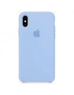 Чехол Silicone case (силикон кейс) iPhone X/XS Liac Cream