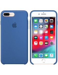 Чехол Silicone case (силикон кейс) iPhone 7/8 Plus Blue New