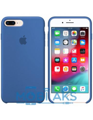 Чехол Silicone case (силикон кейс) iPhone 7 / 8 Plus Blue New