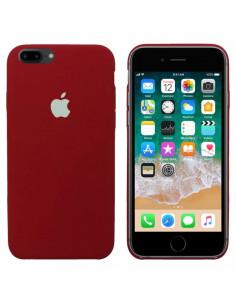 Чехол Silicone case (силикон кейс) iPhone 7/8 Plus Camelia White