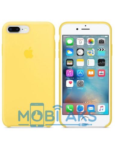 Чехол Silicone case (силикон кейс)  iPhone 7 / 8 Plus Yellow