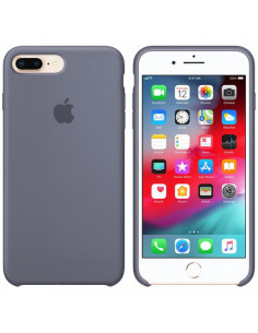 Чехол Silicone case (силикон кейс) iPhone 7/8 Plus Lavander Grey