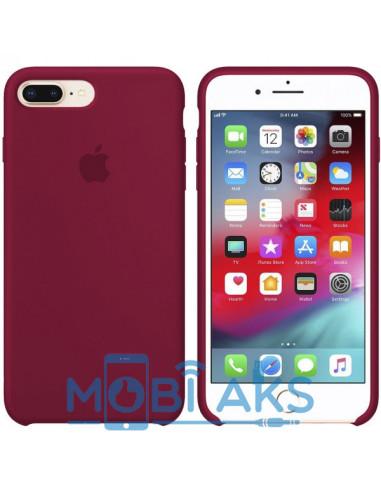Чехол Silicone case (силикон кейс) iPhone 7 / 8 Plus Rose Red