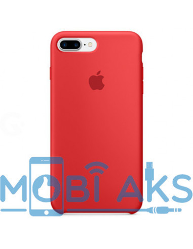 Чехол Silicone case (силикон кейс красный) iPhone 7 / 8 Plus Red