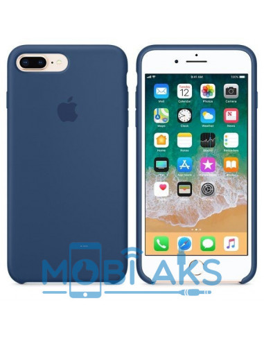 Чехол Silicone case (силикон кейс) iPhone 7 / 8 Plus Blue Cobalt
