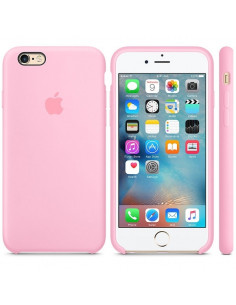 Чехол Silicone case (силикон кейс) iPhone 6S Plus Light Pink