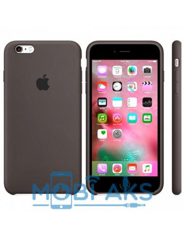 Чехол Silicone case (силикон кейс) для iPhone 6S Plus Brown