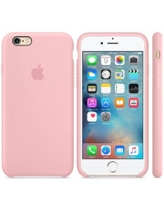 Чехол Silicone case (силикон кейс) iPhone 6S Plus Pink