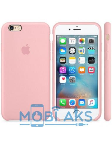 Чехол Silicone case (силикон кейс) iPhone 6S Plus Pink