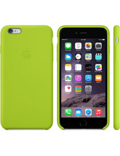 Чехол Silicone case (силикон кейс) iPhone 6S Plus Line Green