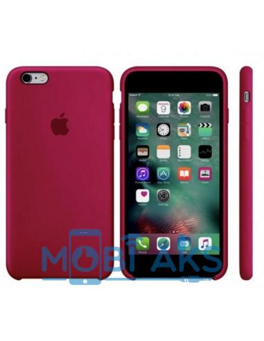 Чехол Silicone case (силикон кейс) iPhone 6S Plus Rose Red
