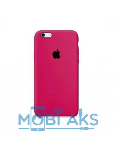 Чехол Silicone case (силикон кейс) iPhone 6S Plus Hot Pink