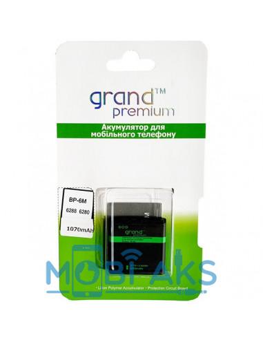 Аккумулятор Grand Premium Nokia BP-6M (Nokia 6233, 6280, 6288, 9300i, N73)