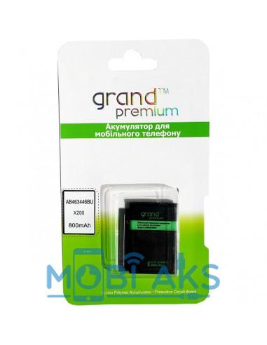 Аккумулятор Samsung X200 (AB463446BU) Grand Premium 800 мАч