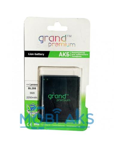 Аккумулятор Lenovo BL208 на Lenovo S920 (2250 мАч) Grand Premium
